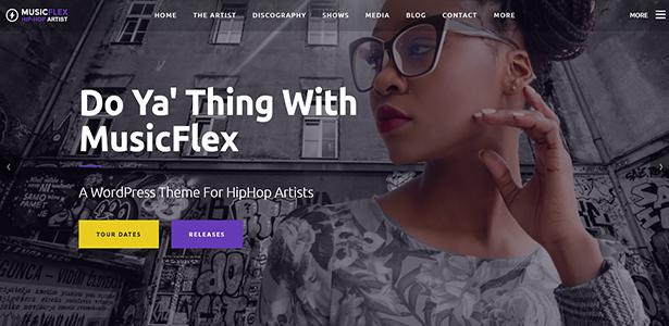 MusicFlex - WordPress Theme for Musicians - 1