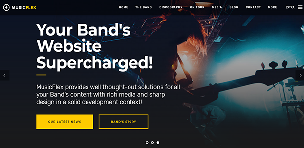 MusicFlex - WordPress Theme for Musicians - 3